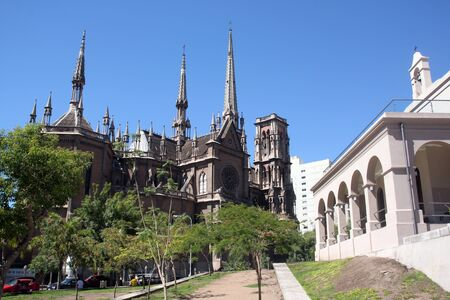 Cathedral with spires in Cordoba, Argentina Stock Photo