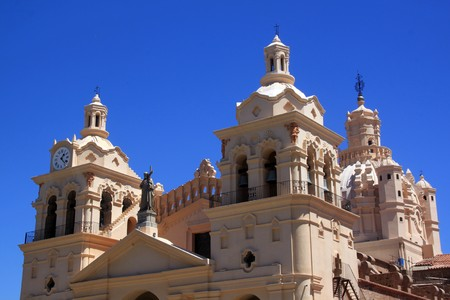 Top of cathedral in center of Cordoba, Argentina