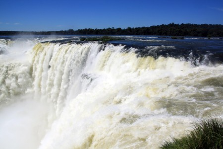 Diabolo throat - big waterfall in area of Iguazu, Argentina photo