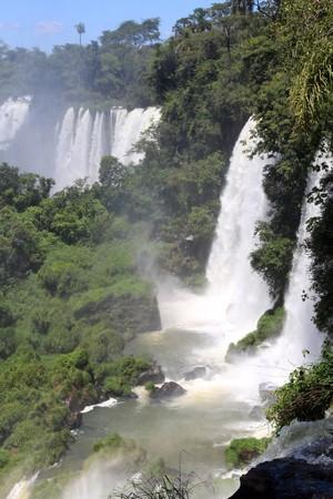 Mist and Iguazu falls on the argentinian part photo