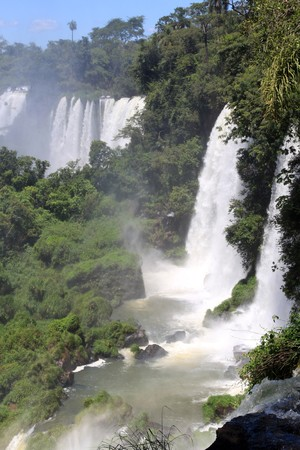 Mist and Iguazu falls on the argentinian part photo