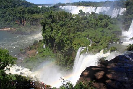 Canyon and all Iguazu falls in Argentina Stock Photo - 7640648