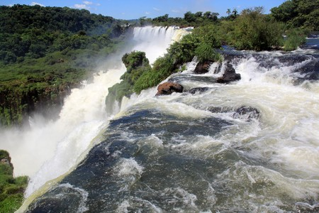 River and Iguazu falls ob argentinian border, Argentina photo