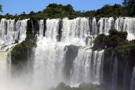 Wie Iguazu waterfall and mist in jungle, Argentina  photo