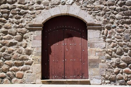 Stone wall and door of church San Fransisco in Potosi, Bolivia Stock Photo - 7641656