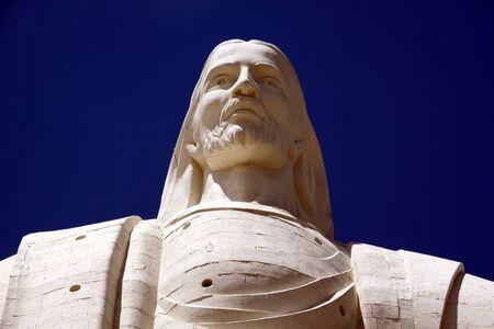 jesus standing: The head of statue of Jesus Christ in Cochabamba, Bolivia