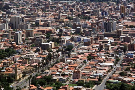 View from the hill on the center of Cochabamba, Bolivia Stock Photo - 7641657