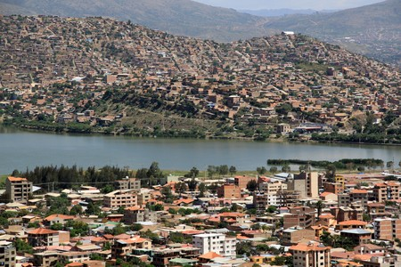 cochabamba: View on the center of Cochabamba from the hill, Bolivia