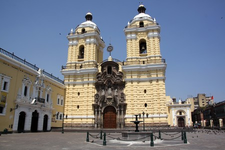 lima: Church an Fransisco in the center of Lima, Peru