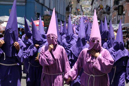 croud: Croud on the carnival street in Quito in Ecuador