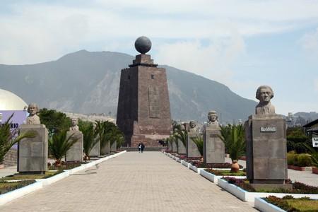 quito: Way to monument of ecuator near Quito in Ecuador Stock Photo