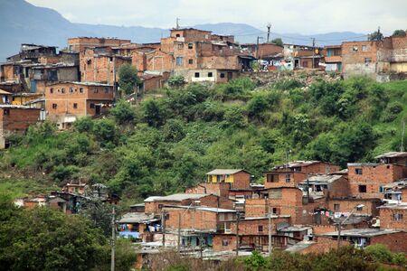 slum: Slum in the district of city Medelyn, Colombia