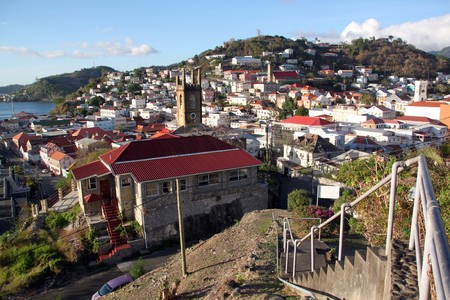 grenada: View from the hill on the Saint George in Grenada