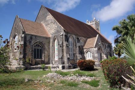 Old stone anglican church in caribean island Barbados Standard-Bild