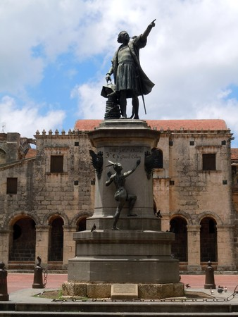 Statue of Columbus in Santo Doming, Dominicana           Stock Photo