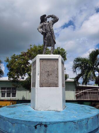 sain: Monument in the park in Sain Joness in Antigua, Caribbean           Stock Photo