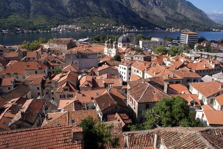 Roofs of Kotor, Montenegro                 photo