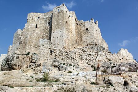 Old stone castle Masyaf on the hill, Syria Stock Photo - 7769456