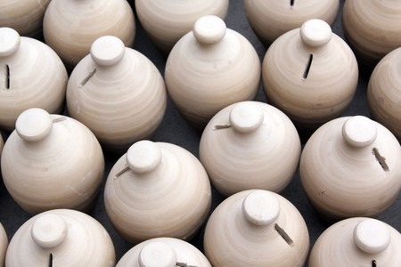 ceramicist: New pots in pottery factory in Bahrein