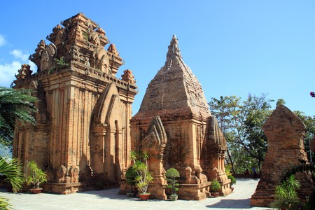Old cham towers in Nha Trang, Vietnam