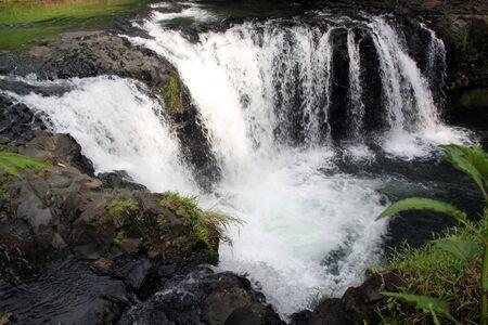 samoa: Waterfall and river in Upolu island, Samoa