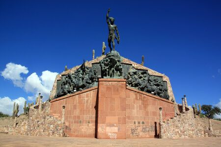liberator: Tall monument on the top of hill in Humahuaca, Argentina