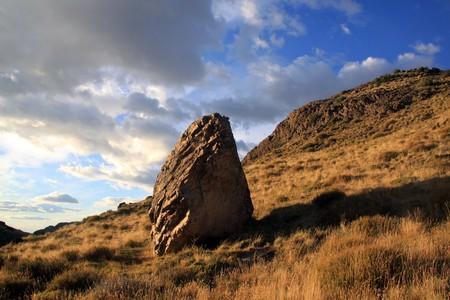 chalten: Rock in national park near El Chalten in Patagonia, Argentina  Stock Photo