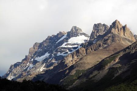 chalten: Cloudy day and mountain near El Chalten, Argentina
