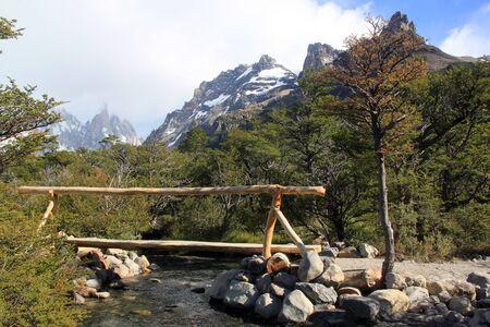 chalten: Travel in national park near El Chalten, Argentina