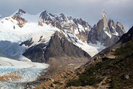 chalten: Mountain and glacier in national park near El Chalten, Argentina
