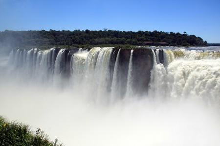 Brasilian part of Iguazu falls - view from argentinian part  photo