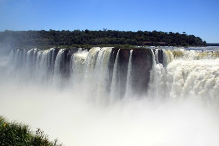 Brasilian part of Iguazu falls - view from argentinian part  photo