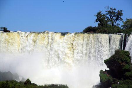 Wall of water in Iguazu waterfall, Argentina photo