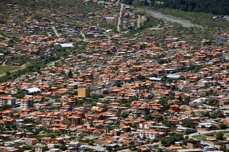 View on the center of Cochabamba in Bolivia Stock Photo - 7771291