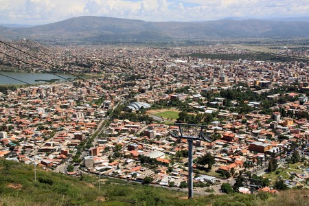 cochabamba: View from the hill on the center of Cochabamba, Bolivia Stock Photo