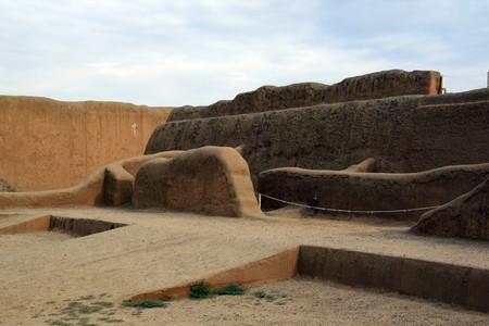 chan: Walls and ruins in Chan Chan, north Peru