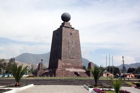 quito: Monument of ecuator near Quito in Ecuador Stock Photo