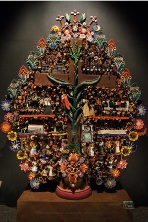 cultura maya: �rbol de vida Maya en Museo de M�xico