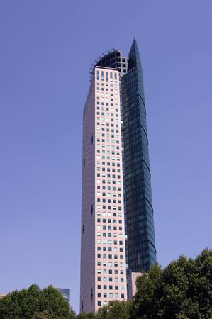 High building in downtown of Mexico-city, Mexico                   Stock Photo