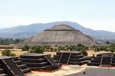 Sun piramid - view from Moon piramid in Teothuacan, Mexico