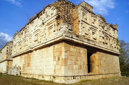 governor: Governor palace in Uxmal, Yucatan peninsula, Mexico                 Stock Photo