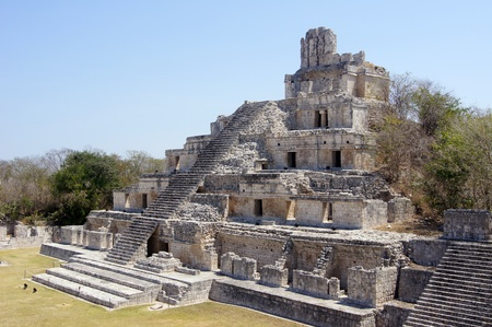 Biggest pyramid in Edzna near Campeche, Mexico