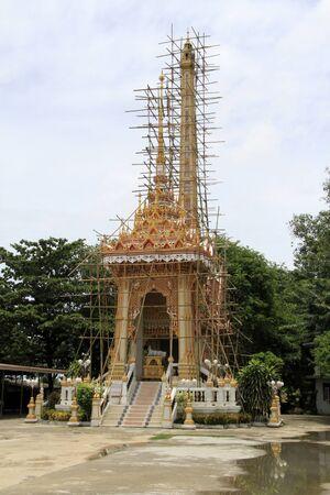 crematorium: Buddhist crematorium in Wat Banomyong in Ayutthaya, Thailand