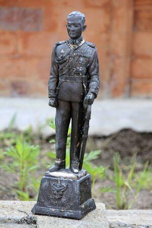king ramkhamhaeng: Statue of thai king in Suan Somdet Phrasinakharin park, Ayutthaya, Thailand