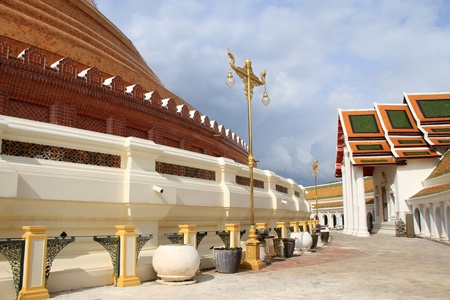 Temple and stupa Chedi Phra Pathom in Thailand
