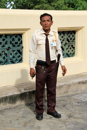 Man guard of Chedi Phra Pathon in Thailand Stock Photo - 11078637