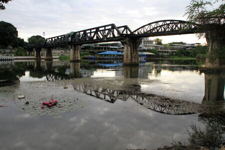 Morning on the river Kwai in Kanchanabury, Thailand
