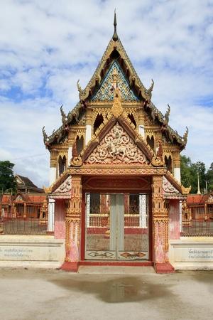 Facade of temple in Wat Ko Lak, Prachuap Khiri Khan, Thailand photo