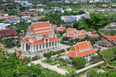 respectful: View from the rock on the Wat Khao Chong Krajok, Prachuap Khiri Khan, Thailand