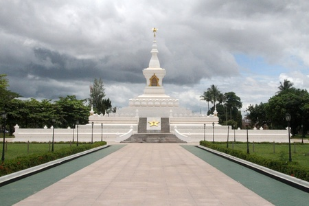 National war monument in the center of Vientiane, Laos